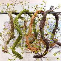 foaming simulation decoration hang vine artificial rattan wedding stage setting hange fake vine green plant wall rattan