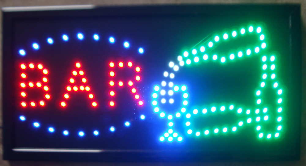 LED beer bar store sign Animated LED pub Neon Sign