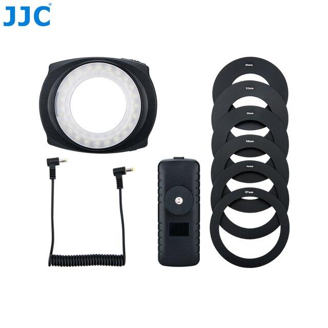 JJC LED Flash Macro Ring  Light Speedlite for DSLR Macro Lens Includes Adapter Ring 49mm 52mm 55mm 58mm 62mm 67mm Step Ring