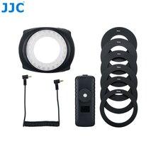 JJC פלאש LED מאקרו טבעת אור Speedlite עבור DSLR מאקרו עדשה כולל מתאם טבעת 49mm 52mm 55mm 58mm 62mm 67mm טבעת צעד