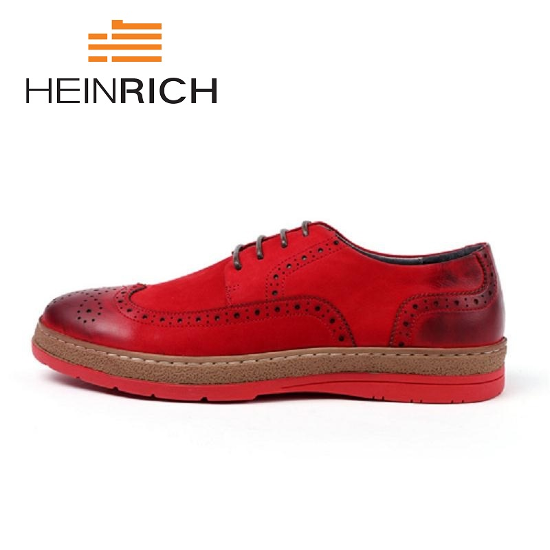 HEINRICH 2018 England Brogue Style Black Casual Shoes Flats Lace-Up Top Quality Men Shoes Zapatos Hombre Cuero GenuinoHEINRICH 2018 England Brogue Style Black Casual Shoes Flats Lace-Up Top Quality Men Shoes Zapatos Hombre Cuero Genuino