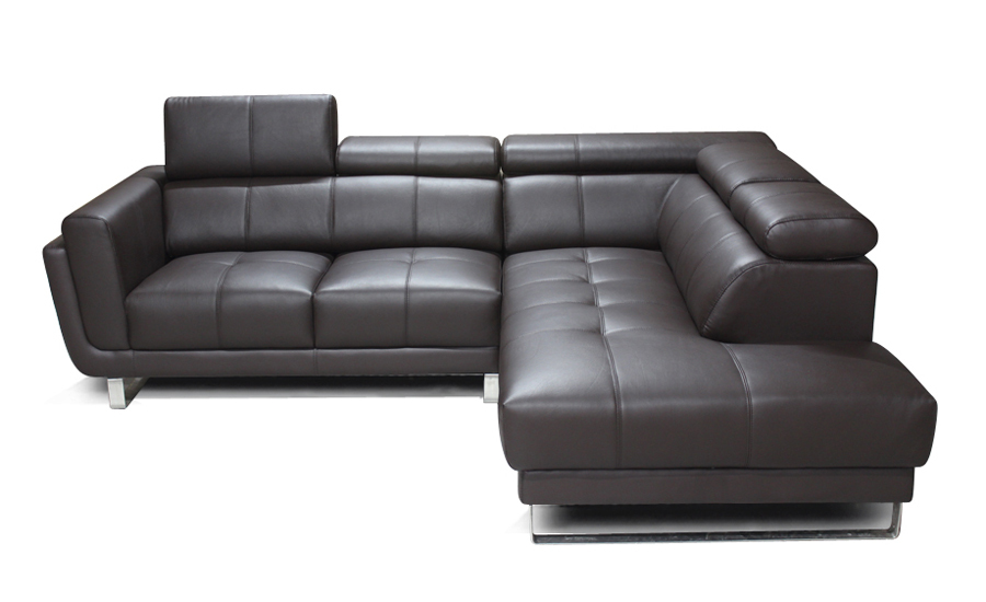 Free Shipping Classic American Design Genuine Leather L Shaped Corner Sofa Removable Seater