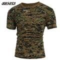 2017 Nueva Llegada del Ejército de Camuflaje Camiseta de Los Hombres de Manga Corta Del O-cuello T-shirt de Algodón Casual Camisetas Hombre MXC0473