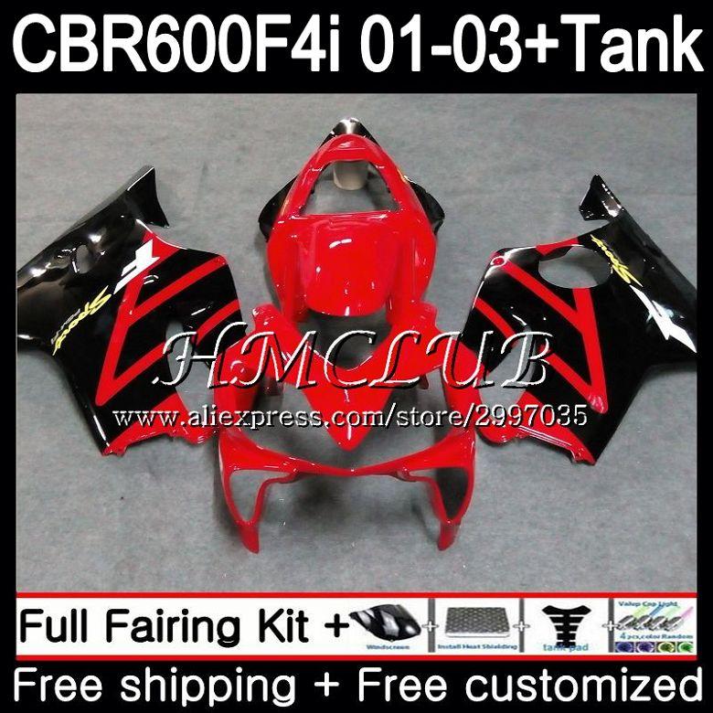+ Tanque Para HONDA Estoque red hot CBR 600 F4i CBR600FS CBR600F4i 2001 2002 2003 77HC. 1 600F4i 600 FS CBR CBR600 F4i 01 02 03 Carenagem