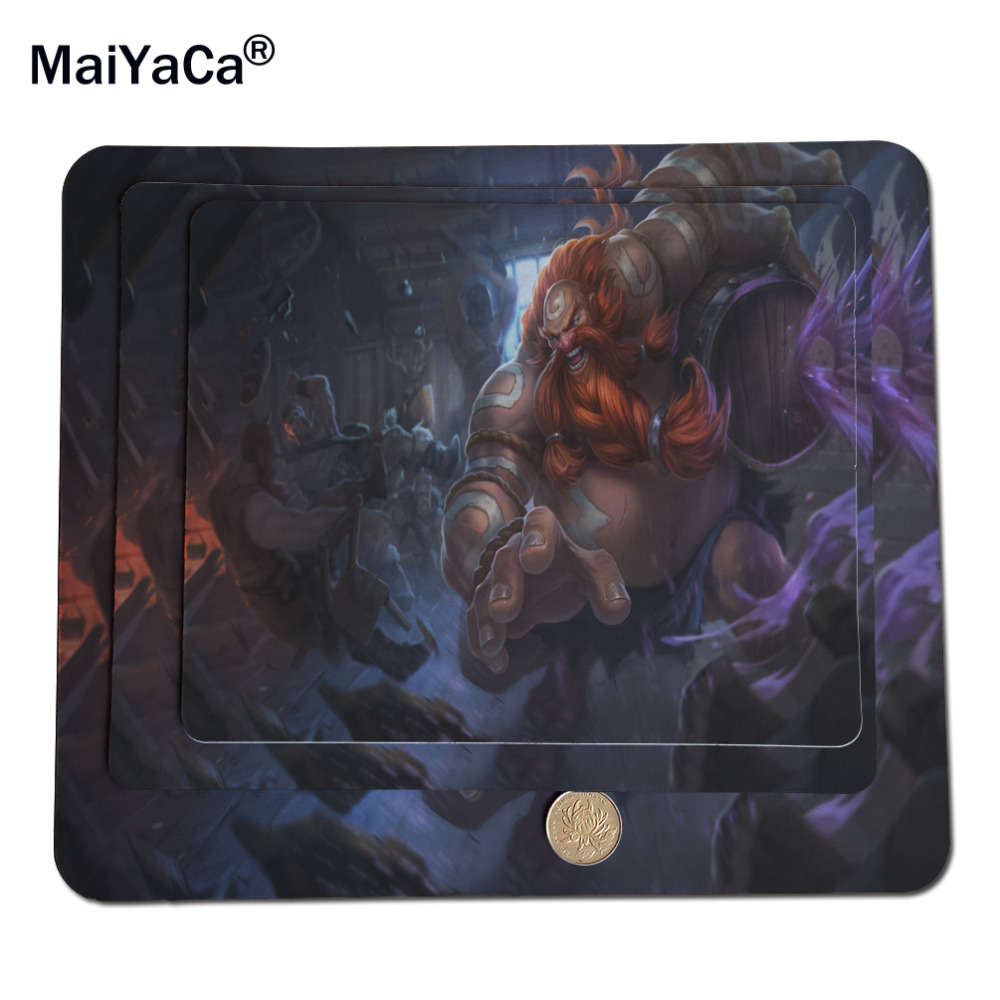 MaiYaCa Lol Gragas Best Game Custom Overlock Mouse Pads Rubber Pad 18*22cm and 25*29cm Cool Mouse Pad 20cm*25cm*0.2cm Size