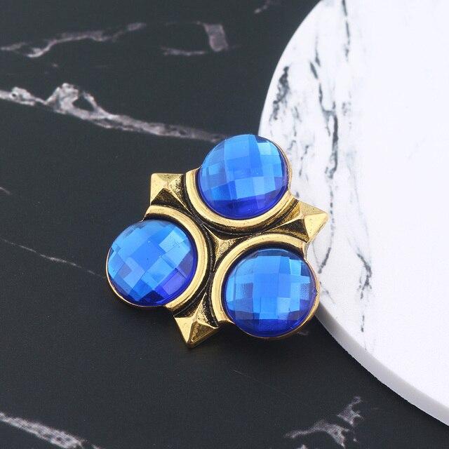 Caliente SG juego broches de la leyenda de Zelda pines azul esmalte Pin escudo triforce Pin con distintivo de los hombres abrigo joyas de Navidad