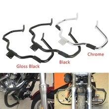 цена на Motorcycle Chrome/Black Engine Guard Crash Bar For Yamaha V-Star 400 650 XVS650 Classic Custom 1998-2012