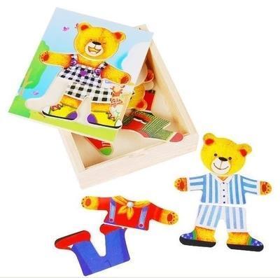 Educational Wooden Clothing Bear