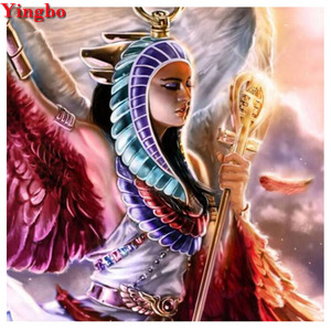 Pintura Diamante DIY 5D Egípcio beleza anjo Conjunto do Ponto Da Cruz Bordados Diamante Mosaic Hobbies E Artesanato Decoração Da Casa