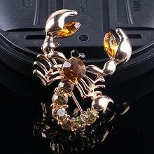 Bluelans Женская мода животное Скорпион Кристалл шарф со стразами брошь булавка вечерние ювелирные изделия