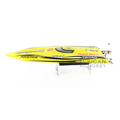 E36 PNP Sword Fiber Glass Racing Speed RC Boat W/1750kv Brushless Motor/120A ESC/Servo Boat Yellow e36 rtr sword fiber glass racing speed rc boat w 1750kv brushless motor 120a esc servo remote control boat green