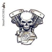 Geborduurde Patches Voor Kleding Custom Mc Patches Grote Biker Patches Skelet Logo