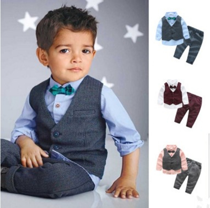 Boys suits for weddings Children Clothing 3pcs sets Baby Tops T-shirt + jacket + pants costume for boy Outfits child suit aetoo 2017 new arrival oil wax genuine leather women handbags fashion embossed crossbody bags female handbag trend bag bolsas