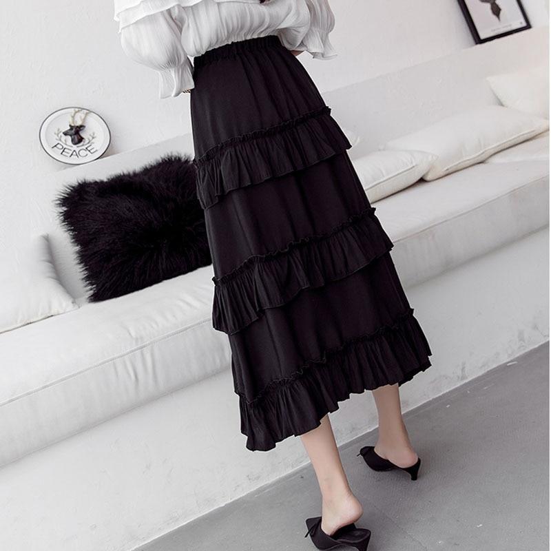 Elastic Hight waist skirts Women