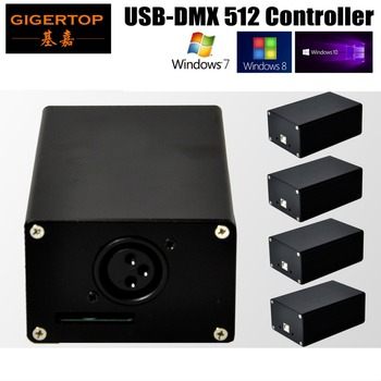 Freeshipping 5XLOT USB DMX 512 Podium Verlichting Controller FreeStyler Dmx HD512 Doos USB Voeding Mini DMX512 Trooster