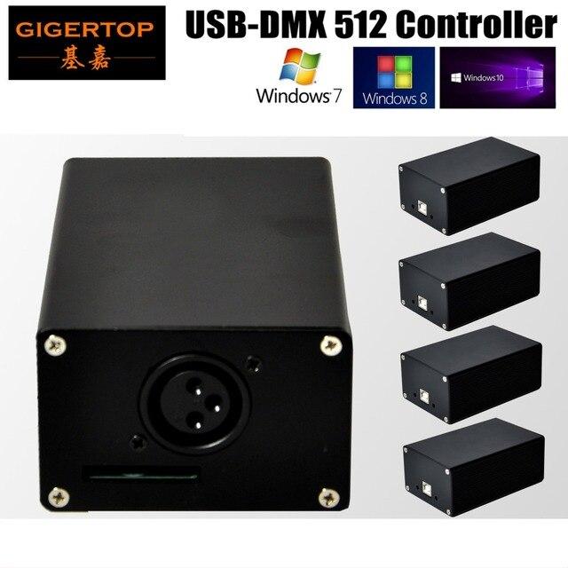 US $445 0 |Freeshipping 5XLOT USB DMX 512 Stage Lighting Controller  FreeStyler DMX Control HD512 Box USB Power Supply Mini DMX512 Consoler-in  Stage