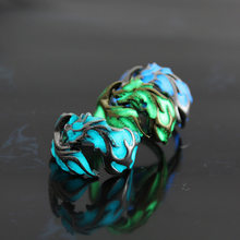 Luminous Dragon Rings Gold Silver Women Rings Glow In The Dark Male Mens Ring Jewelry(China)