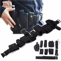 Multi function Tactical Belt With 9 Pouches Airsoft Hunting Military Combat Patrol Belt for Men Waist Support