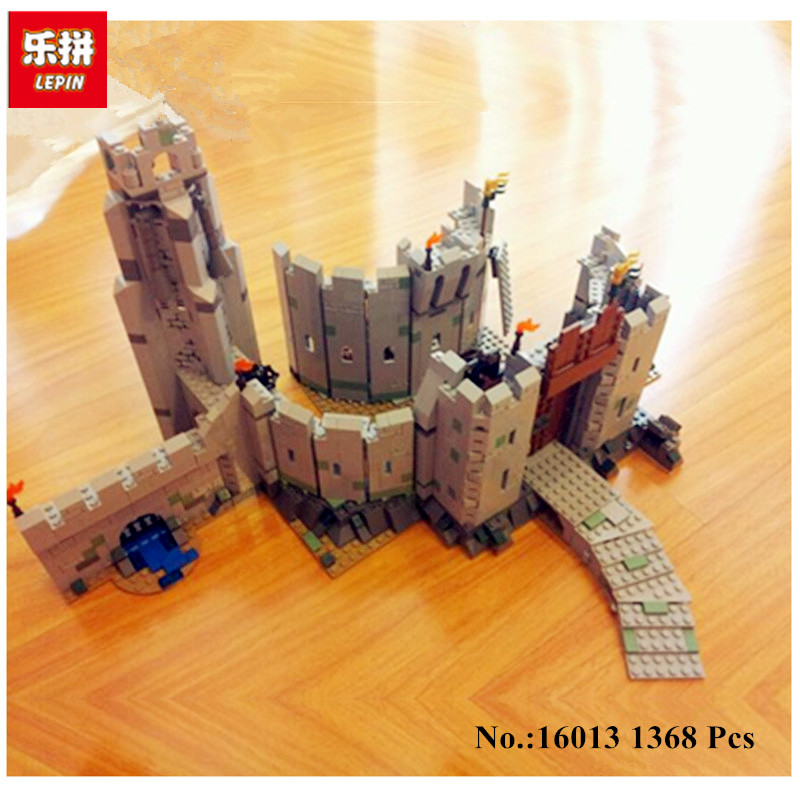 цена IN STOCK 2017 New Lepin 16013 1368Pcs The Lord of the Rings Series The Battle Of Helm' Deep Model Building Blocks Bricks Toys