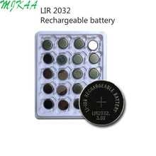 20x  Rechargeable Lithium-ion Batteries 3.6V LIR2032 Repeatedly Used 500 Times Replace CR2032 Button Coin Cell Battery New east kawasaki toky encoder new version hy38a6 p 500 replace of hy38a6 p4ar 500