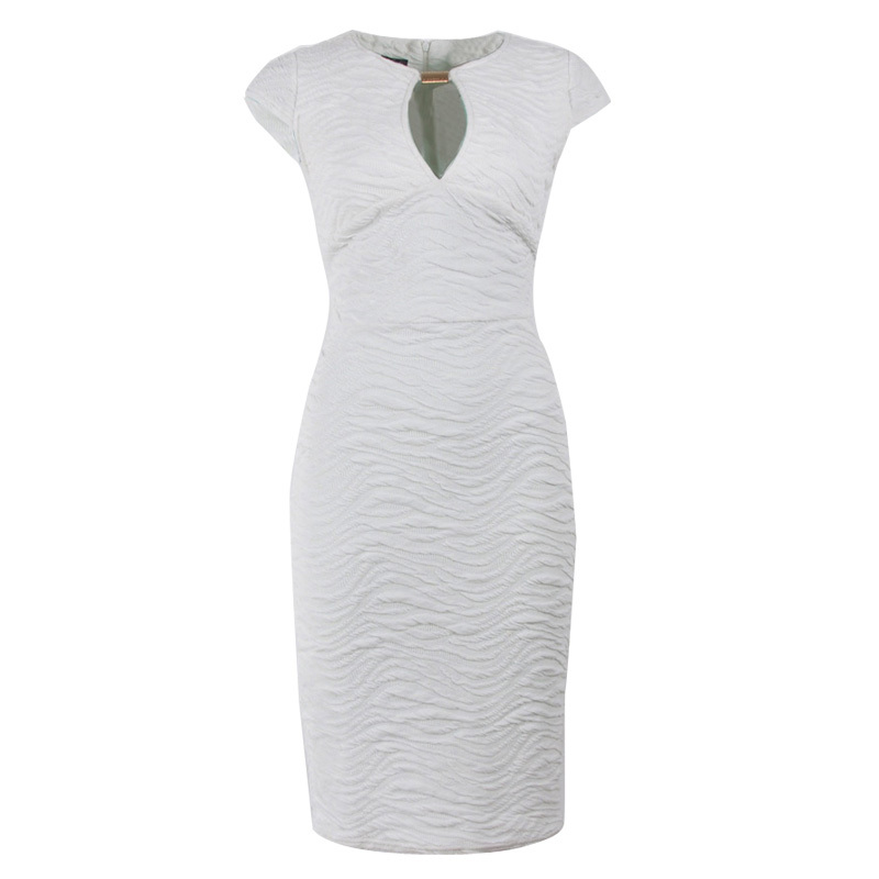 Buy Cheap Fashion Elegant O-neck Woman Dress Short Sleeve White Pencil Party Bodycon Lady Sequin Dresses