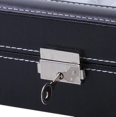 Watch sunglasses PU leather storage box organizer Life small jewelry box With lock Casket Glass design jewelry display Container