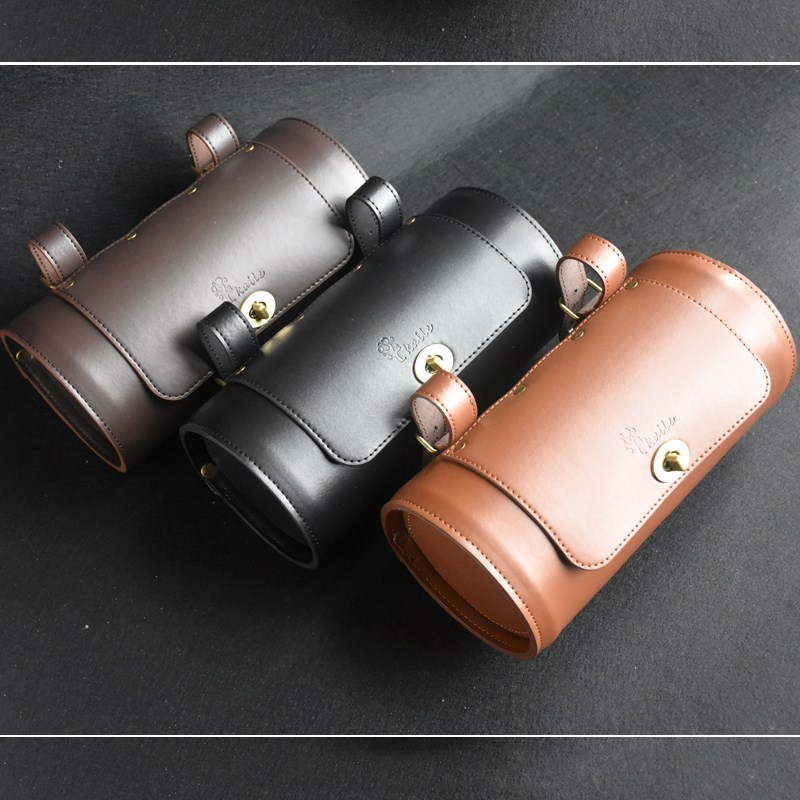 Kaile Classic Bike Bag Leather 1.5 L Retro bicycle Saddle Waterproof Cycling Accessory
