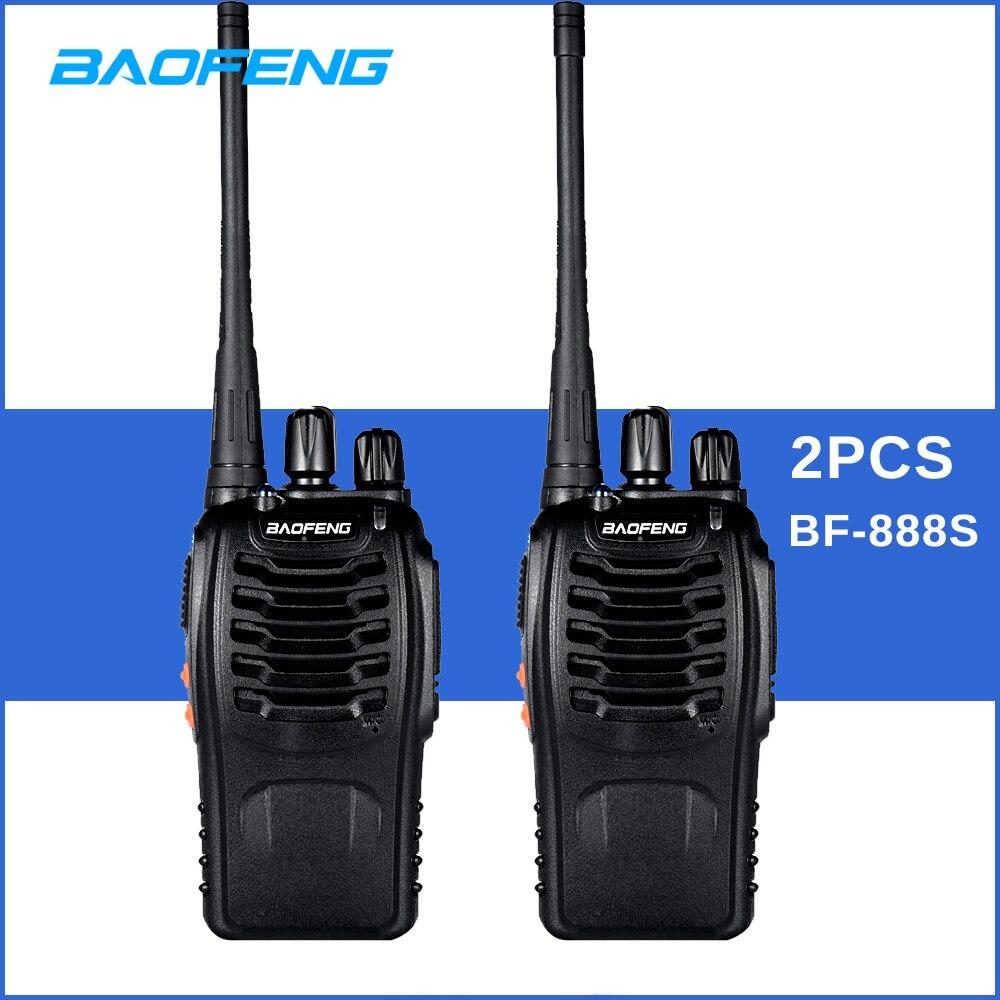 2pcs lot Original BAOFENG BF 888S Walkie talkie UHF 400 470MHz 16CH FM Transceiver Two Way