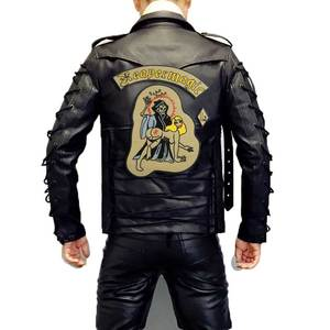 Image 2 - Reapermagic 1% Mc Grote Geborduurde Punk Biker Patches Kleding Stickers Kleding Accessoires Badge