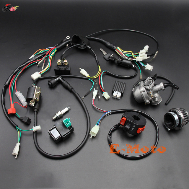 50cc 70cc 90cc 110cc 125cc Complete Wiring Harness Carby Carburetor Air Filter Quad Dirt Bike Buggy_640x640 50cc 70cc 90cc 110cc 125cc complete wiring harness carby carburetor wire harness for 88 mustang at bayanpartner.co