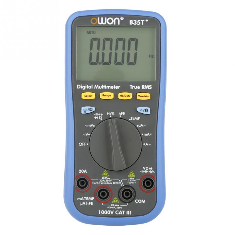 OWON B35T Digital Multimeter True rms Bluetooth Voltmeter Ammeter Ohmmeter Tools Accessory