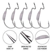 5 шт. углеродистая сталь рыболовные крючки AOrace джиг большие крючки на окуня свинцовая Мормышка колючая крючок для мягкой рыболовной приманки
