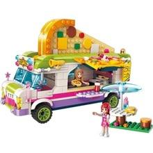 City Girls Princess Pizza Dining Car Bus Building Blocks Sets Bricks Model Kids Classic Compatible With Legoings Friends цены онлайн