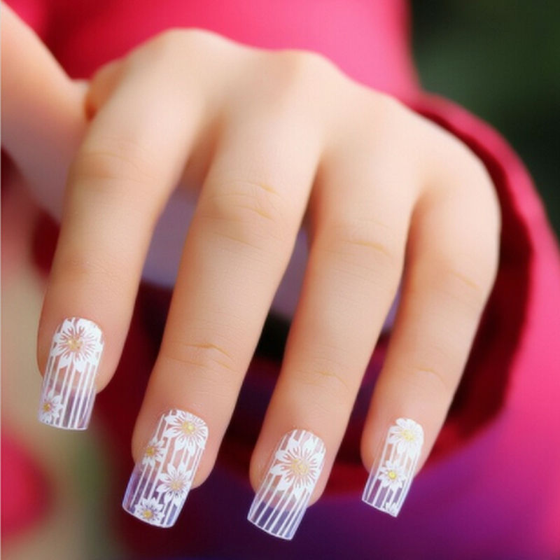 credit card WebMoney WM TT Western Union Qiwi wallet. The buyer need to  responsible for any tax or duty which charged by their local government if  there is ... - Nail Art Stickers White Lace Nail Stickers 3d Fake Nails Stickers