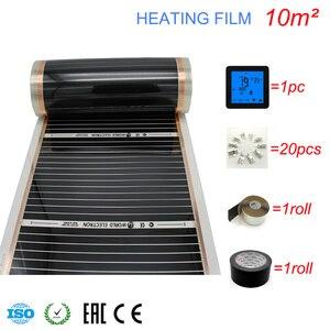 Image 4 - 10M2 Carbon Folie Kits Elektrische Fußbodenheizung Film, Zimmer Digitaler Thermostat, Heizung Film Schellen