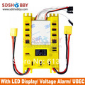NEW Mini Servo Distribution Board/ Section Board (4105#) with LED Screen/ Voltage Alarm/ UBEC-Yellow Color