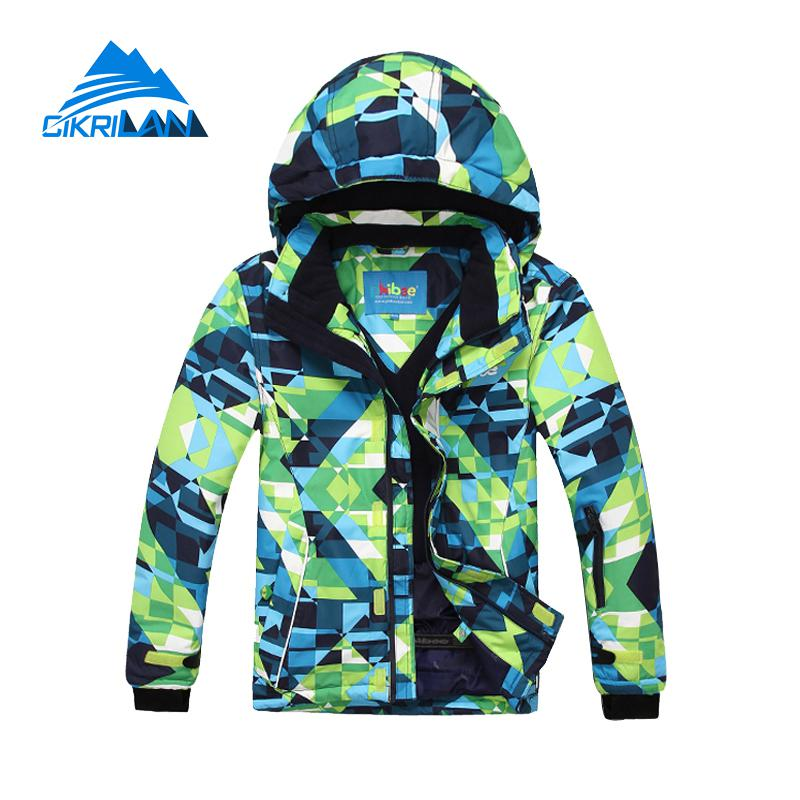 Hot 6-16 Years Kids Snow Winter Waterproof Snowboard Ski Jacket Boys Girls Breathable Windstopper Outdoor Sport Leisure Coat hot sale women ladies snowboard jacket waterproof breathable ski jacket female winter snow coat sport motorcycle anorak clothes