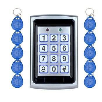 โลหะ RFID ประตูคีย์บอร์ดคีย์ rfid card reader สำหรับระบบรักษาความปลอดภัย