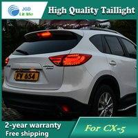Araba Styling Mazda CX-5 için Kuyruk Lambası 2011-2015 Kuyruk Işıkları LED Arka Işık Arka Lambası LED DRL + fren + Parkı + Sinyal Stop Lambası