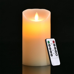15 size ivory LED Candles with remote control pillar scented bougie velas Electric for birthday party home Weddings Decoration