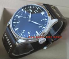 2016 новая мода 44 мм PARNIS пилот 6497 Механическая Рука Ветер движения мужские часы оптовая x0001
