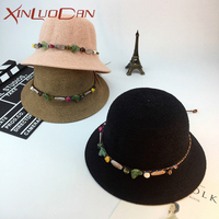 Fashion Cap Women Collapsible Summer Hats For Women Ladies Beach Dome Holiday Sun Hat Straw Hat