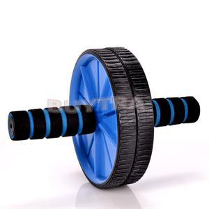 No Noise Blue Abdominal Wheel Ab Roller With Mat For Exercise Fitness Equipment