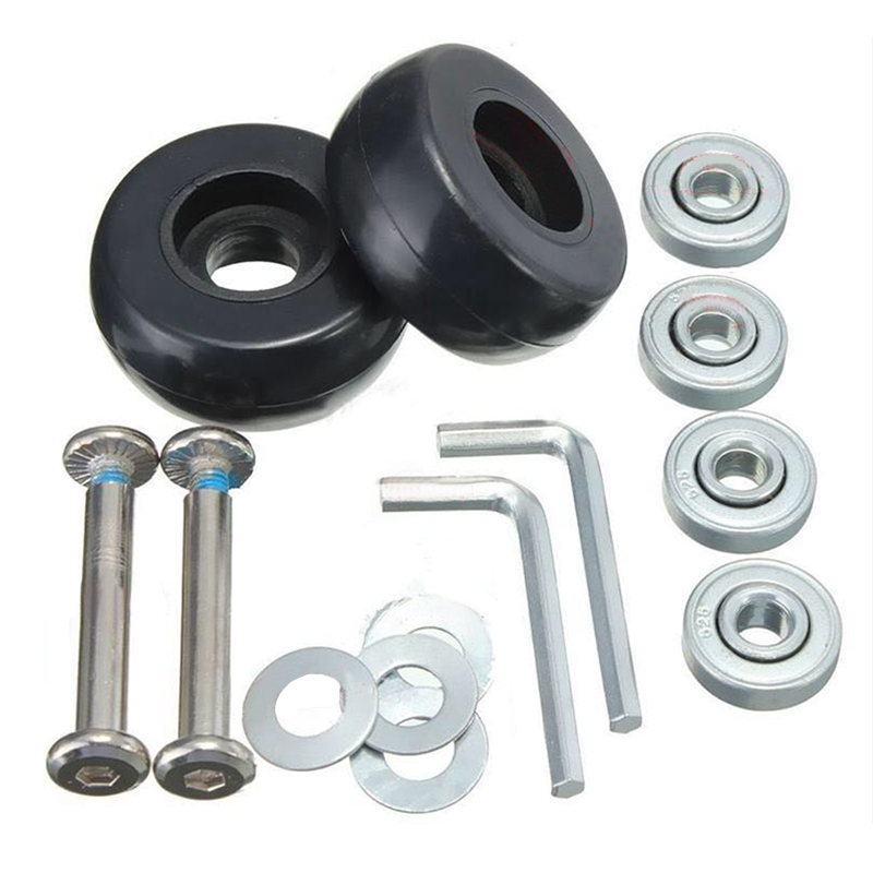 40 X 18mm Luggage Suitcase Wheels Replacement Repair Kit 1 Set
