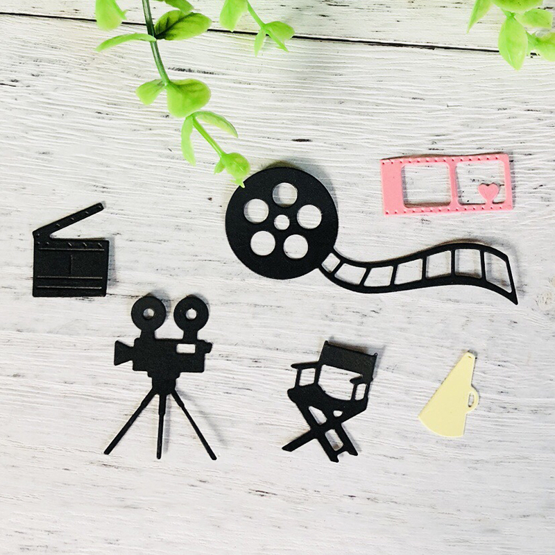 Film Camera Movie Metal Cutting Dies for DIY Scrapbooking Album Embossing Folder Maker Paper Cards Decor Template Stencils Craft image