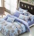 Azul Chino Phoenix flor juego de cama queen doble king size ropa de cama edredón de algodón/duvet cubre hojas Adultos decoración del dormitorio