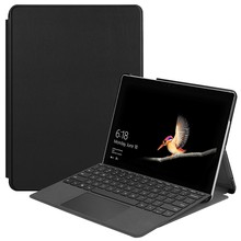 Funda de cuero PU Ultra delgada para Microsoft Surface Go 10 pulgadas Tablet + Stylus Pen Tri-Fold NO Sleep Wake Up funciones(China)
