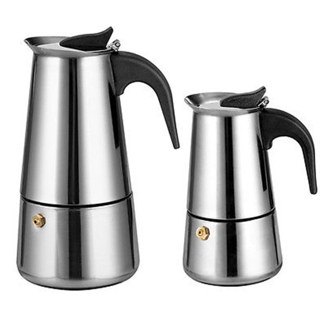 Aluminum 2 6 Espresso Maker Stovetop Coffee Pot Kettle Stove Top Brewer
