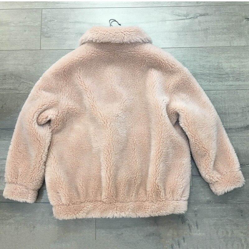 Laine Veste La 2018 white pink Manteau Moutons Luxe Green red Tonte Femme Zip Vraie Des Chaud Russie De Marque Femelle Épaisse Naturel Hiver Fourrure white Mouton gy76YbIfv