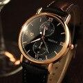 Fashion Original YAZOLE England Style Leather Backlight Quartz Dress Wristwatches Wrist Watch Clock for Men Male No.355 OP001